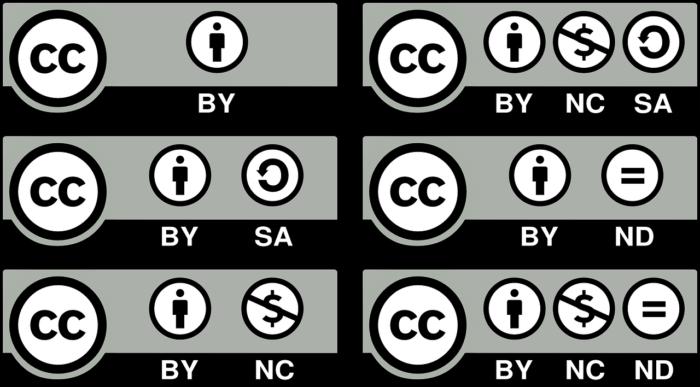 Виды лицензии CC